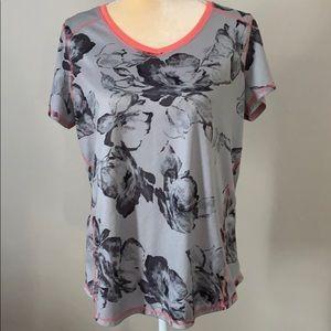 St John's Bay L Athletic Flowered T-shirt